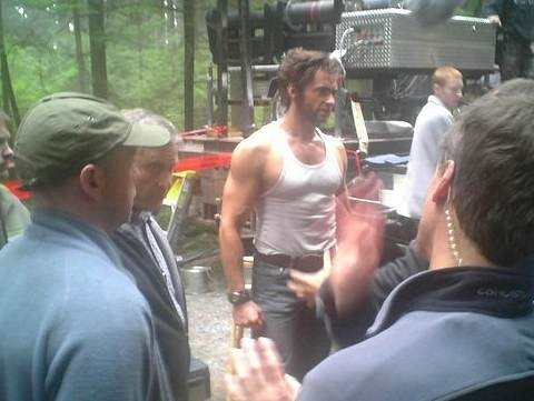 Hugh Jackman sul set di X-Men 3