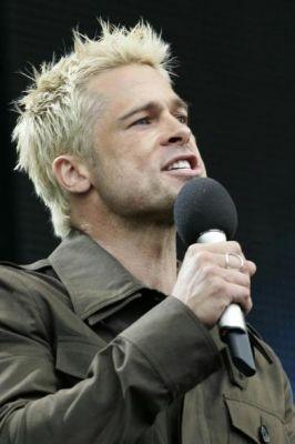 Brad Pitt al Live 8