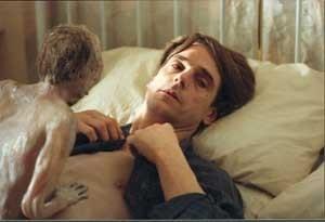 Jeremy Irons sul set di Inseparabili di Cronenberg