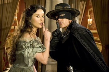 Antonio Banderas con Catherine Zeta-Jones in The Legend of Zorro