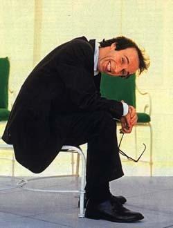 Una simpatica immagine di Roberto Benigni