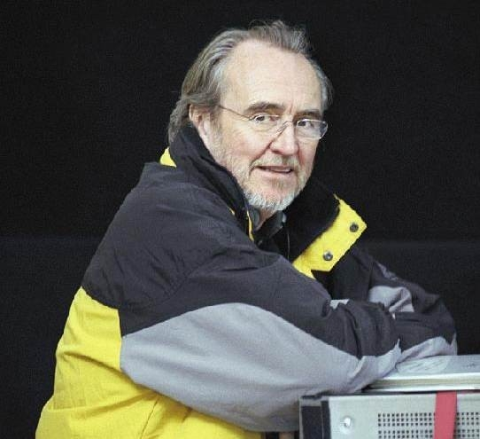 Wes Craven sul set di Red Eye