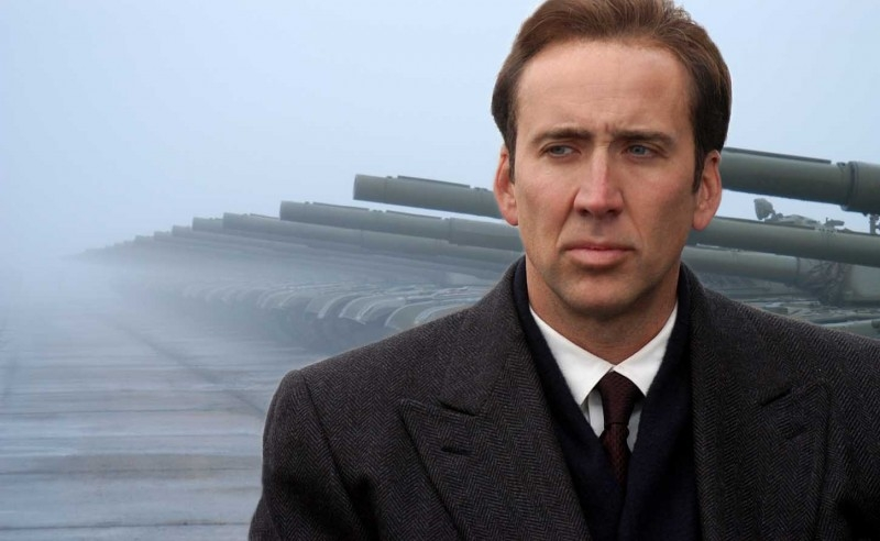Nicolas Cage in una scena del dramma Lord of War