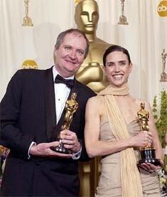 I vincitori degli Oscar per i non protagonisti Jim Broadbent e Jennifer Connelly