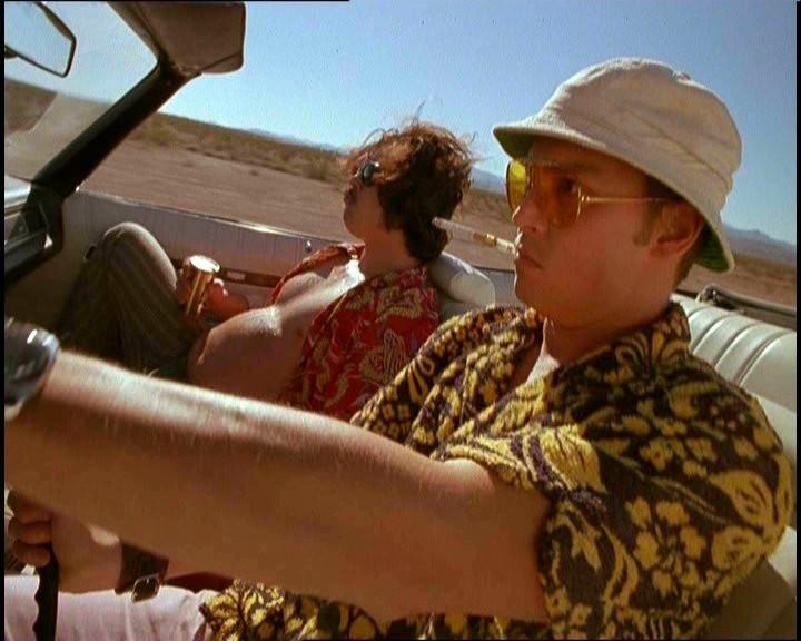 Johnny Depp nel film Paura e delirio a Las Vegas