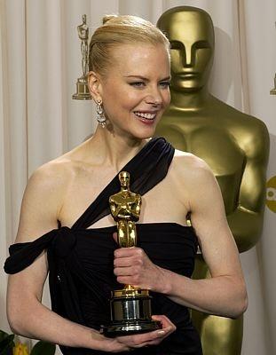 Nicole Kidman con il suo Oscar