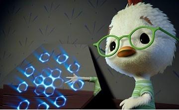 Una scena del cartoon Chicken Little - Amici per le penne
