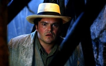Jack Black in una scena di King Kong (2005)