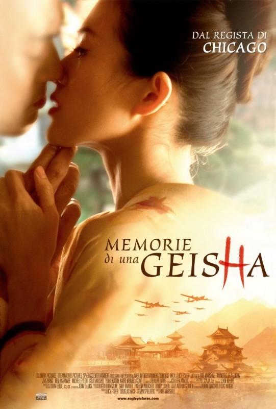La locandina italiana di Memorie di una geisha