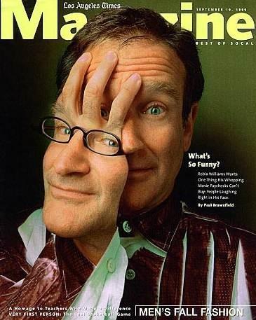 Robin Williams su una splendida cover dell'inserto del Los Angeles Times