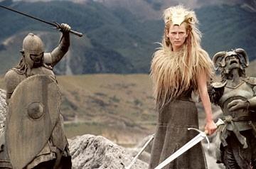 Tilda Swinton in una scena de Le cronache di Narnia: il Leone, la Strega e l'Armadio