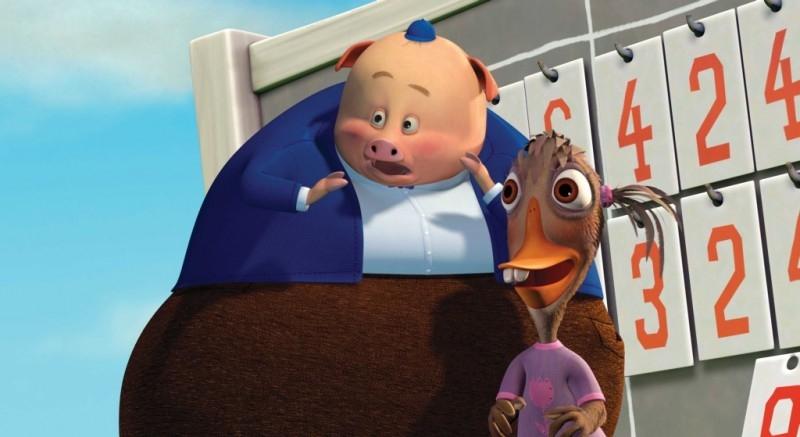 Una scena del film d'animazione Chicken Little - Amici per le penne