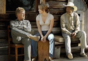 Robert Redford, Jennifer Lopez e Morgan Freeman ne Il vento del perdono