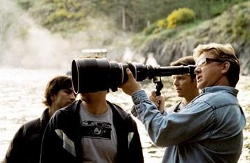 Il regista Rupert Wainwright sul set di Fog