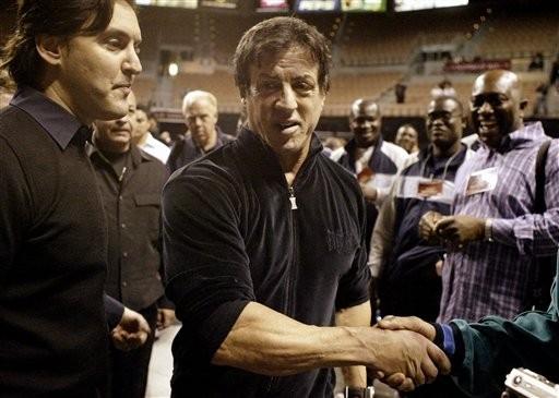 Sylvester Stallone sul set di Rocky Balboa, ultimo capitolo della saga