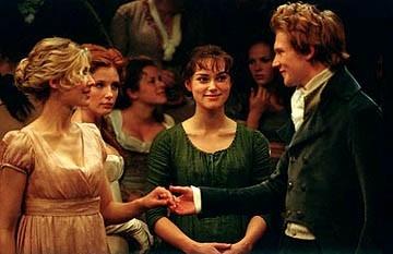 Rosamund Pike, Keira Knightley e Simon Woods in Orgoglio e Pregiudizio