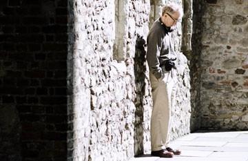 Woody Allen sul set di Match Point
