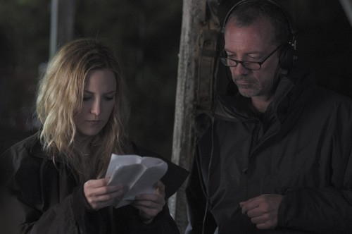 Kate Hudson e Iain Softley sul set di The Skeleton Key
