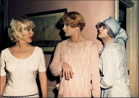 marilyn Monroe, Jack Lemmon e Tony Curtis in A qualcuno piace caldo