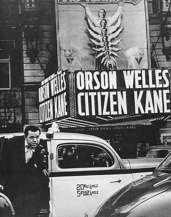 Orson Welles alla premiere di Quarto Potere