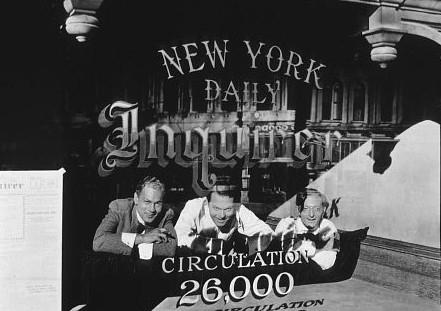 Orson Welles, Everett Sloane e Joseph Cotten in Quarto Potere
