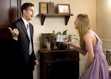 Jennifer Aniston con Mark Ruffalo in Vizi di famiglia - Rumor Has It