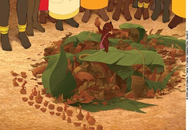 una scena di Kirikù e gli animali selvaggi