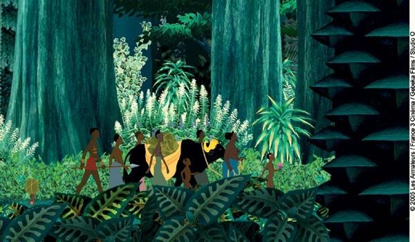 una sequenza di Kirikù e gli animali selvaggi