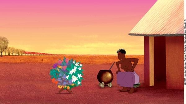 una immagine del film d'animazione Kirikù e gli animali selvaggi