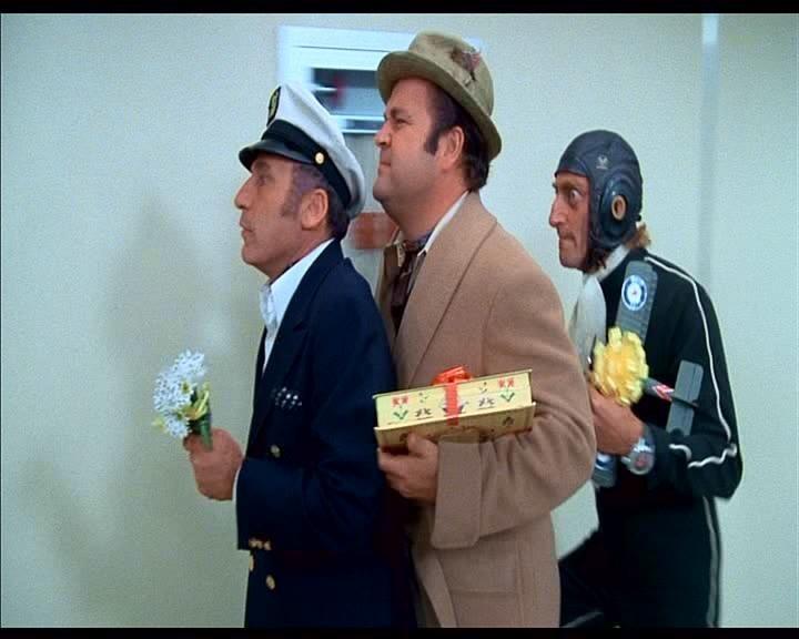 Mel Brooks, Dom DeLuise e Marty Feldman in una scena de L'ULTIMA FOLLIA DI MEL BROOKS