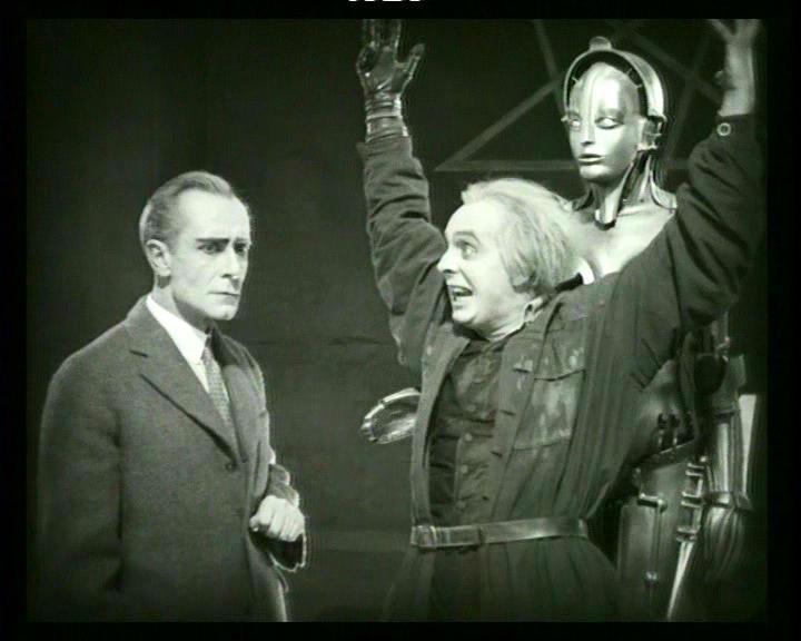 Alfred Abel, Rudolph Klein-Rogge e l'Essere-Macchina in una scena di METROPOLIS