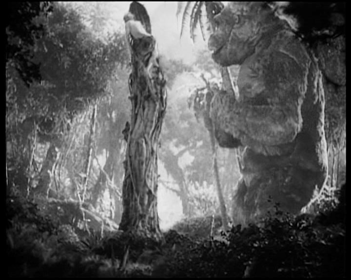 Una scena di KING KONG, film del '33