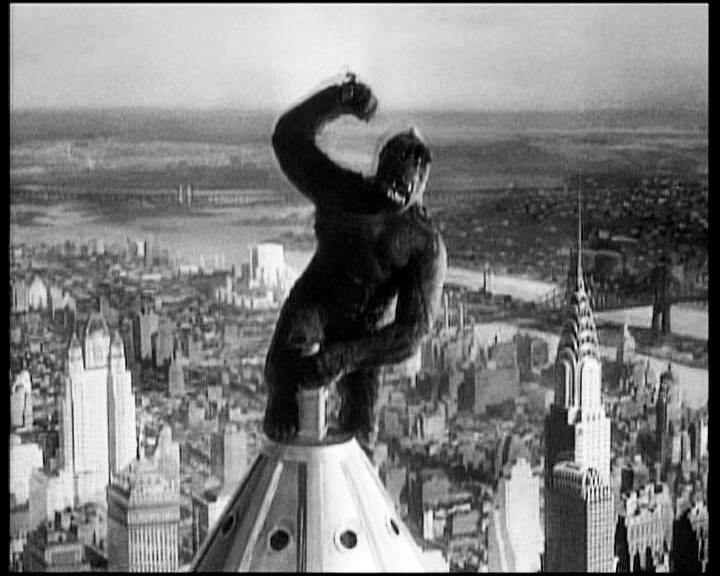 Una drammatica sequenza di KING KONG