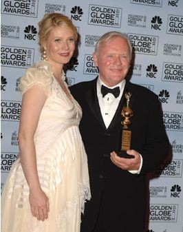Il vincitore del premio De Mille Anthony Hopkins con Gwyneth Paltrow