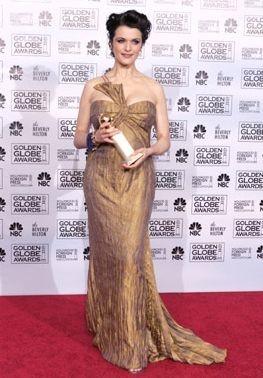 Rachel Weisz con il suo Golden Globe