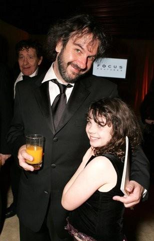 Peter Jackson  con la figlioletta
