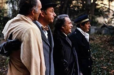 Tognazzi, Noiret, Mastroianni e Piccoli ne La grande abbuffata