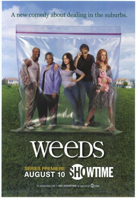 Un poster della serie Weeds
