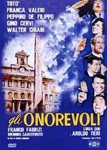 La copertina DVD di Gli Onorevoli
