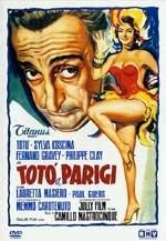 La copertina DVD di Totò a Parigi