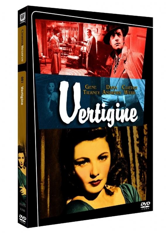 La copertina DVD di Vertigine