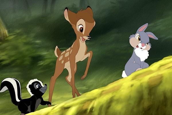 Una scena di Bambi e il grande principe della foresta