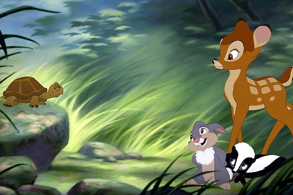 Una bella scena di Bambi e il grande principe della foresta