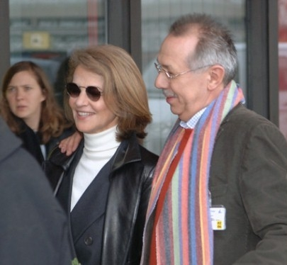Berlinale 2006: il presidente della giuria Charlotte Rampling insieme al direttore del Festival.