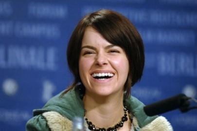 Emily Hampshire a Berlino 2006 per presentare Snow Cake