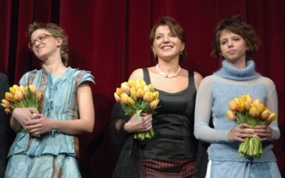Berlinale 2006: Jasmila Zbanic, Mirjana Karanovic (al centro) e la giovanissima Luna Mijovic