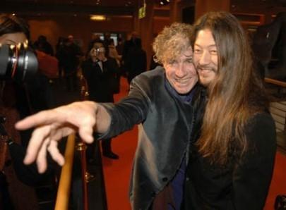 Christopher Doyle e Asano Tadanobu a Berlino 2006 per presentare Invisible Waves