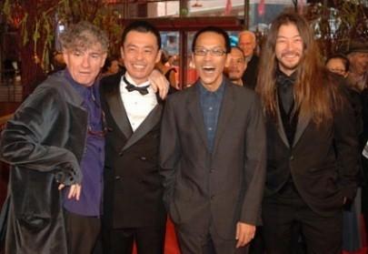 Christopher Doyle, Mitsuishi Ken, Pen-ek Ratanaruang e Asano Tadanobu a Berlino 2006 per presentare Invisible Waves