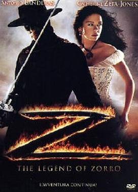 La copertina DVD di The Legend of Zorro