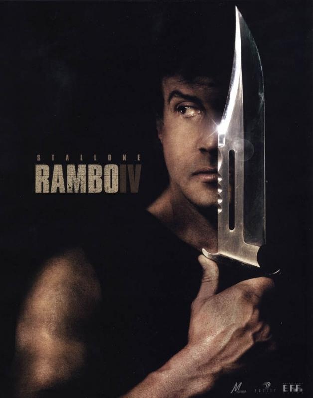 La locandina di Rambo IV con Stallone